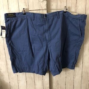NWT Men's Flat Front Medium Blue Shorts Size 58-B